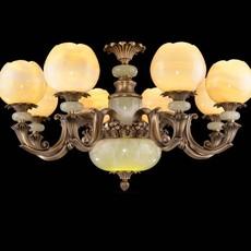 全铜玉石灯饰 天然玉石吊灯 玉石铜灯 玉石灯具