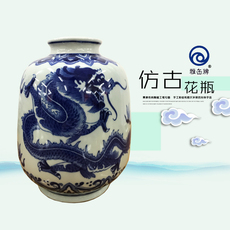 雅缶牌陶瓷 大埔厂家直销 手绘青花8寸灯笼瓶(083804)可零售 批发
