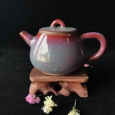 出水芙蓉 银制内胆·钧窑茶器——单壶 钧窑茶器现代艺术品