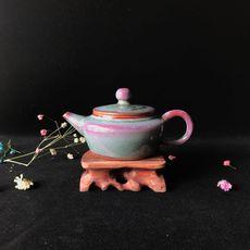 银制内胆·钧窑茶器——单壶 现代艺术 出水芙蓉窑变艺术