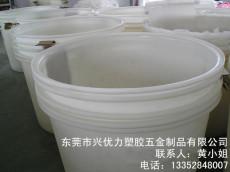厂家供应:400L滚塑成型耐酸碱养殖圆桶 白色大型塑料广口圆桶 食品厂用塑料存储圆桶