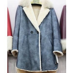 瑞生 羊绒羊剪绒大衣羊羔毛皮毛一体外套皮草外套女款