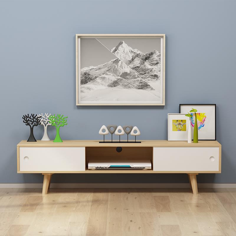 电视柜简约单个电视柜日式现代卧室北欧实木小户型电视机柜图片