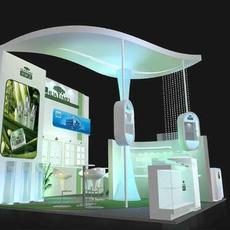 上海维钊展览供应上海5月份新国际展馆美容展特装展台设计装修服务 烤漆工艺