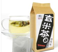 供应蓝翼茗茶 玄米茶袋泡茶 250克 绿茶