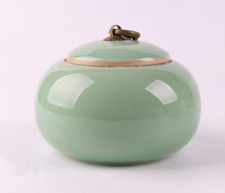 供应龙泉青瓷陶瓷器茶道茶叶罐