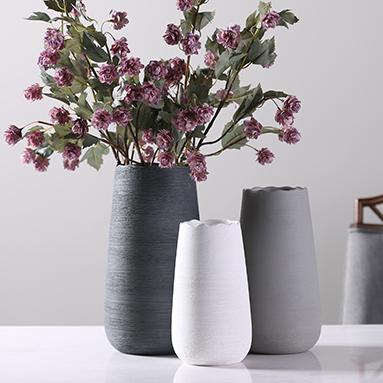 供应博西家居 欧式简约陶瓷插花花瓶创意客厅干花花器