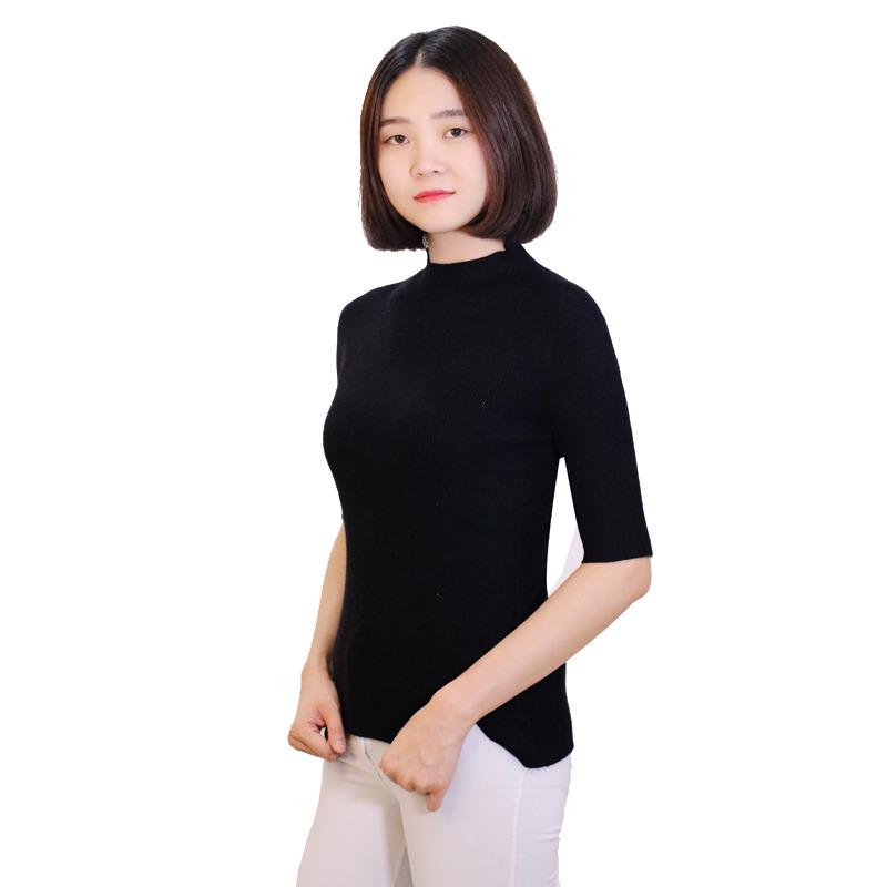 女士羊绒衫短袖