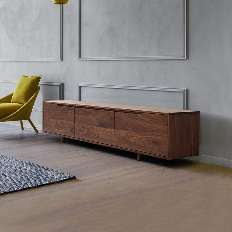 电视柜现代简约橡木原木家具日式风格实木北欧电视柜 tvyu系列 tvyu—图片