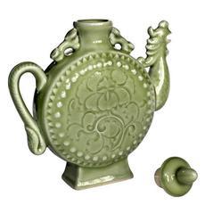 供应 陶瓷工艺品凤鸣壶 商务礼品