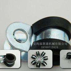 福莱通品牌连胶条卡箍 带胶垫电缆紧固夹 R型单环垫