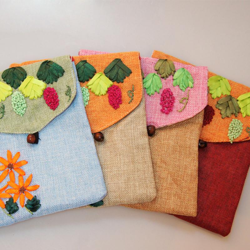 武功县馨绣民间手工布艺出售手工丝带绣花包 美观 方便 你值的拥有
