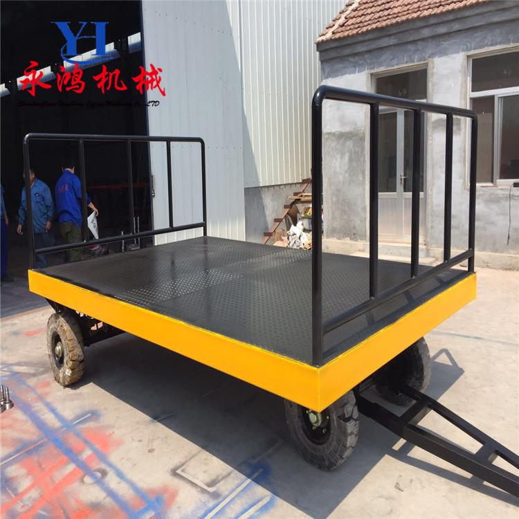 专业定做永鸿PBTC 3吨 5吨 6吨移动平板拖车 牵引式全挂车厂家直销