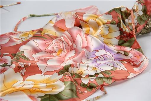 【红情绿意】依格尔 真丝枕巾枕套 100%桑蚕丝绸系带单面单只枕头套 四季单人枕芯套50×76cm