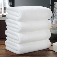 酒店浴巾纯棉白色成人男女浴巾