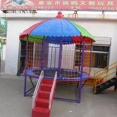 山东幼儿园室外蹦蹦床 进口底网跳跳床 儿童游乐组合蹦蹦床