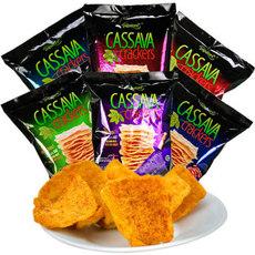 梅西薯片 啪啪通木薯脆片 原味火辣味甜辣味膨化食品
