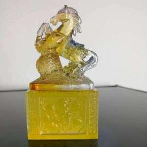 高档脱蜡琉璃水晶摆件   福禄寿禧财十二生肖印章之大吉大利