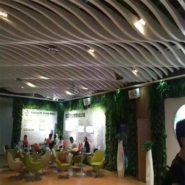 型材铝方通 弧形铝方通 广东乐斯尔品牌铝天花铝方通吊顶铝建材厂家