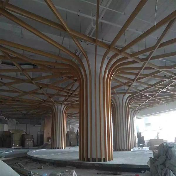 木纹弧形铝方通 型材铝方通 贵阳乐斯尔品牌铝天花铝方通吊顶厂家