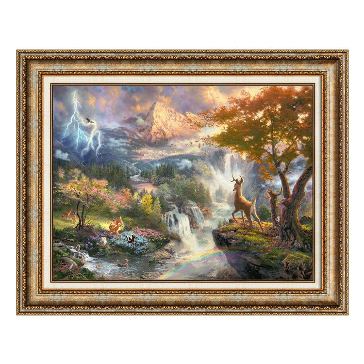 现代田园家居装饰画 托马斯风景画 书房卧室风景挂画 壁画0209