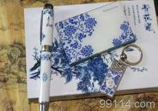 【全国包邮】高档礼品3件套,仅32元/套,厂家直销 青花瓷工艺品 送礼佳选!