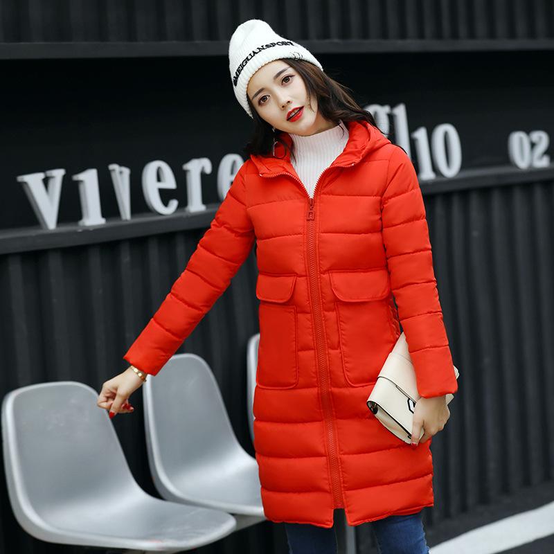冬装新款韩版棉衣中长款大码修身羽绒棉服女式棉袄加厚外套