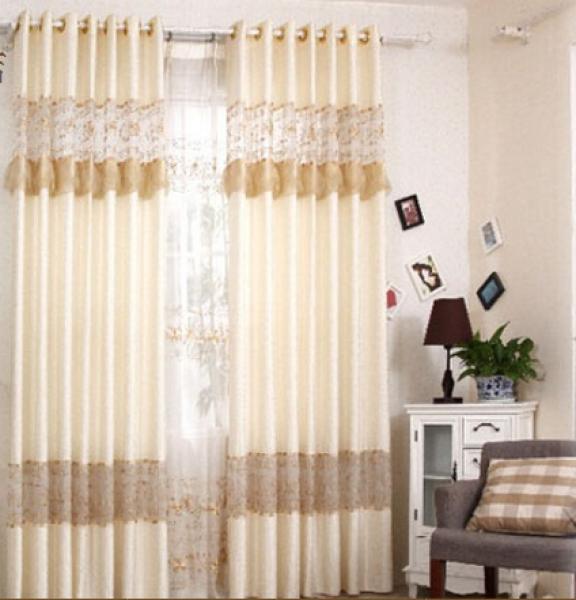 供应奢华欧式窗帘客厅高档烂花剪花窗纱现代简约卧室