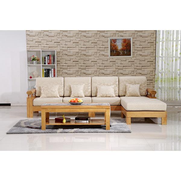 现代新中式实木转角沙发 纯橡木坐垫小户型客厅沙发 厂家批发图片