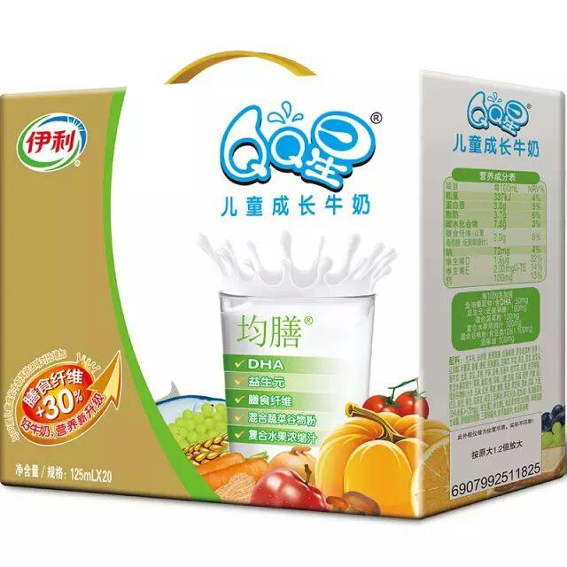 伊利 QQ星儿童成长牛奶(营养均膳型)125ml 20盒