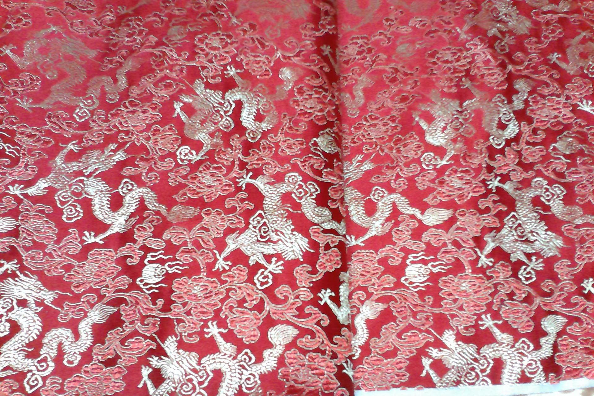 满底龙  厂家直销仿三五织锦缎 旗袍唐装工艺品包装等面料