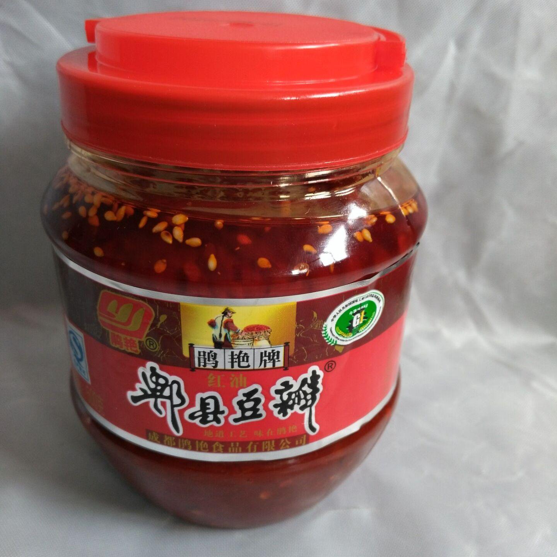 川菜调味品 四川特产红油豆瓣系列红油郫县豆瓣酱 1300gx8瓶  整件销售