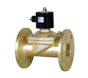 全铜法兰电磁阀系列产品特点 采用直动式膜片结构无压力启动,扩充了图片
