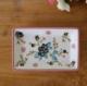 供应定制陶瓷长方皂碟酒店洗浴家居日用置物碟创意手工彩绘瓷碟肥皂盒