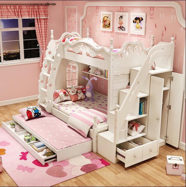 韩式上下床欧式儿童床组合床男女孩高低床