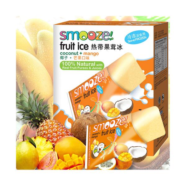 舒慕喜热带果茸冰 椰子+芒果口味12盒x10支x65ml