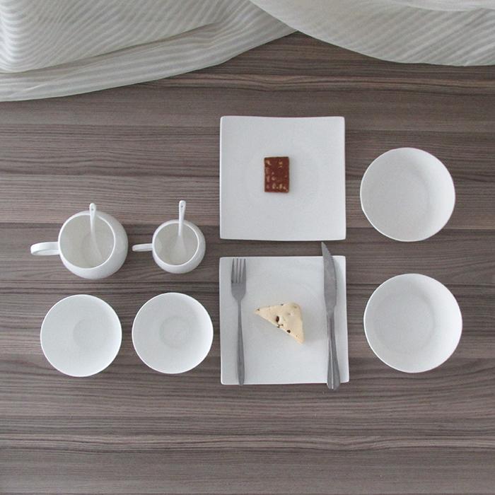 【两口之家】骨质瓷餐具套装 双人餐具套装