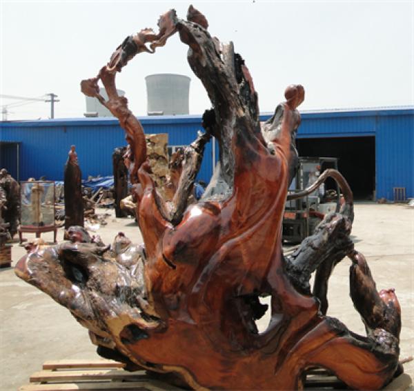 供应老挝红花梨木雕,大型木雕摆件,商务礼品