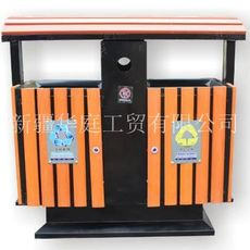新疆塑木垃圾桶 新疆户外垃圾桶抗紫外线耐用 华庭果皮箱设计优美