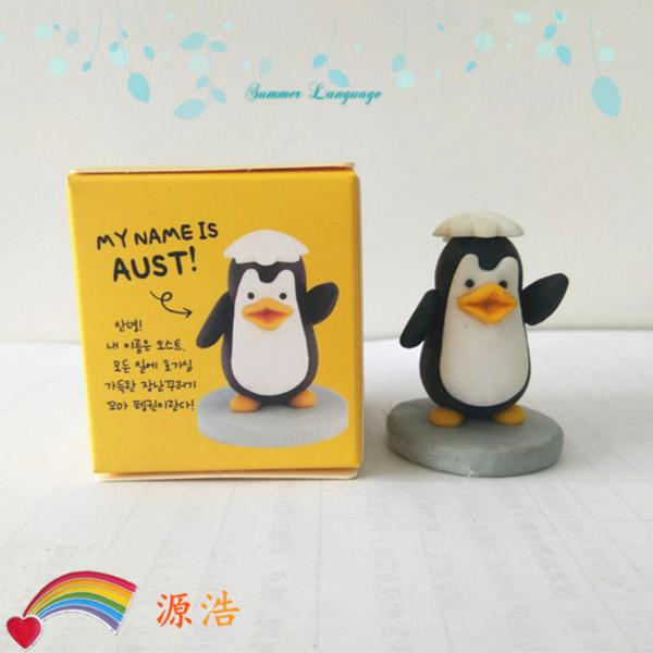 韩国软陶工艺品 卡通企鹅 儿童摆饰玩具 企鹅饰品 软陶摆件