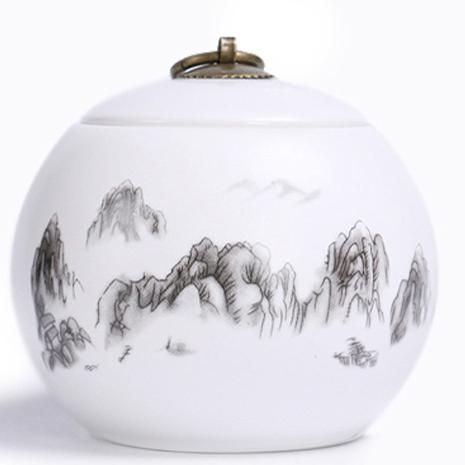 供应茶叶罐陶瓷定窑大号半斤装 防潮密封罐红茶绿茶普洱茶罐订制LOGO