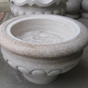 花岗岩石材石雕花钵 白麻 黄锈石 可定制各种款式