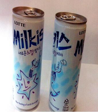 韩国进口饮料批发 OKF ICE TOK葡萄苏打水