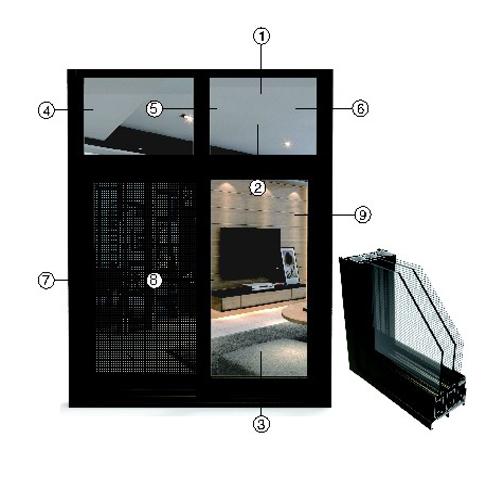 供应 永高铝材 121推拉窗系列型材  厂家直供 正品保障 YG4-9