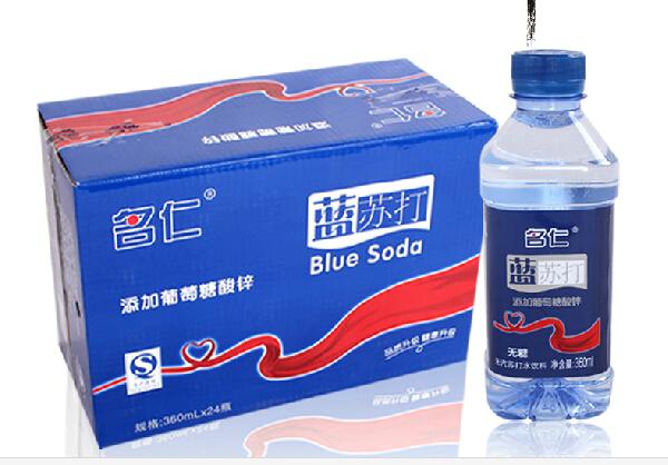 苏打水饮料360ml*24瓶【科学添加葡萄糖酸锌】蓝苏打