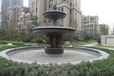 仿铜铸铜喷水池雕塑