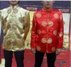 揭阳迎老爷服饰迎老爷服装旗袍唐装西服西装职业装表演服装