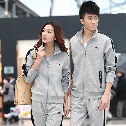 春秋装女款运动装男士运动套装情侣套装卫衣休闲套装