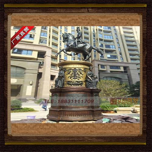 供应 高5米欧式骑马将军铜雕塑 品牌雕塑  厂家直供