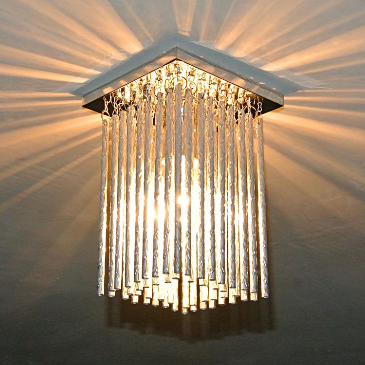 长方形现代水晶客厅吸顶灯led水晶灯大厅工程灯具 厂家直销